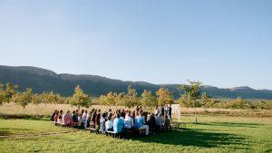 Wedding venue in an orchard