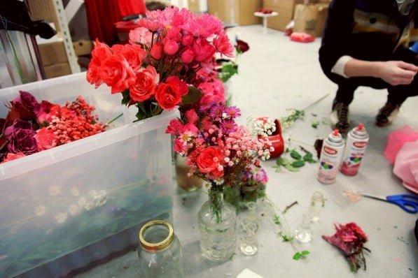 Spray Painted Blooms