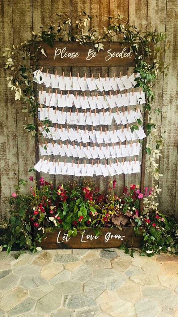 turning seed packets into striking escort cards