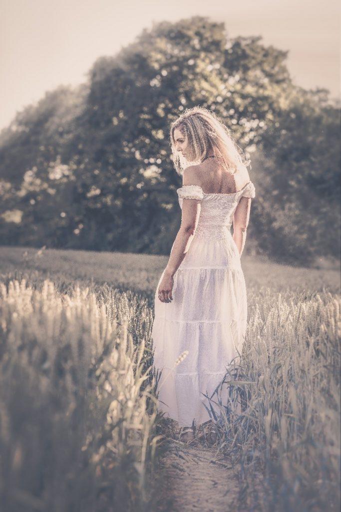 summer bridal dress