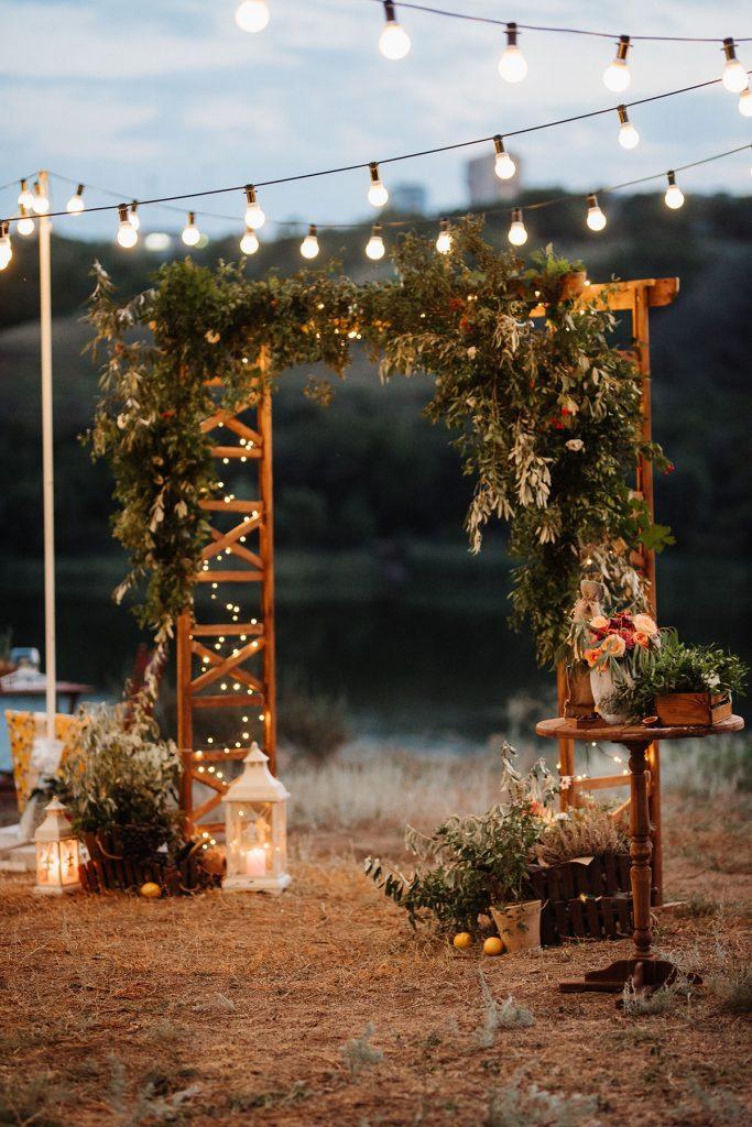 entrance of your farm wedding