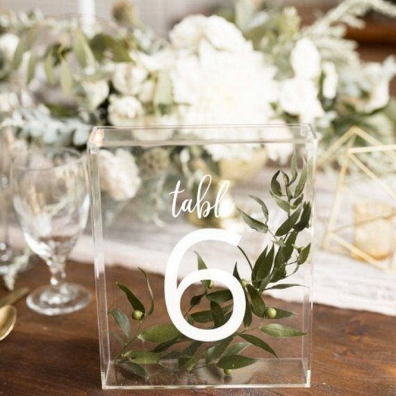 Acrylic Boxes Wedding Table Number Idea