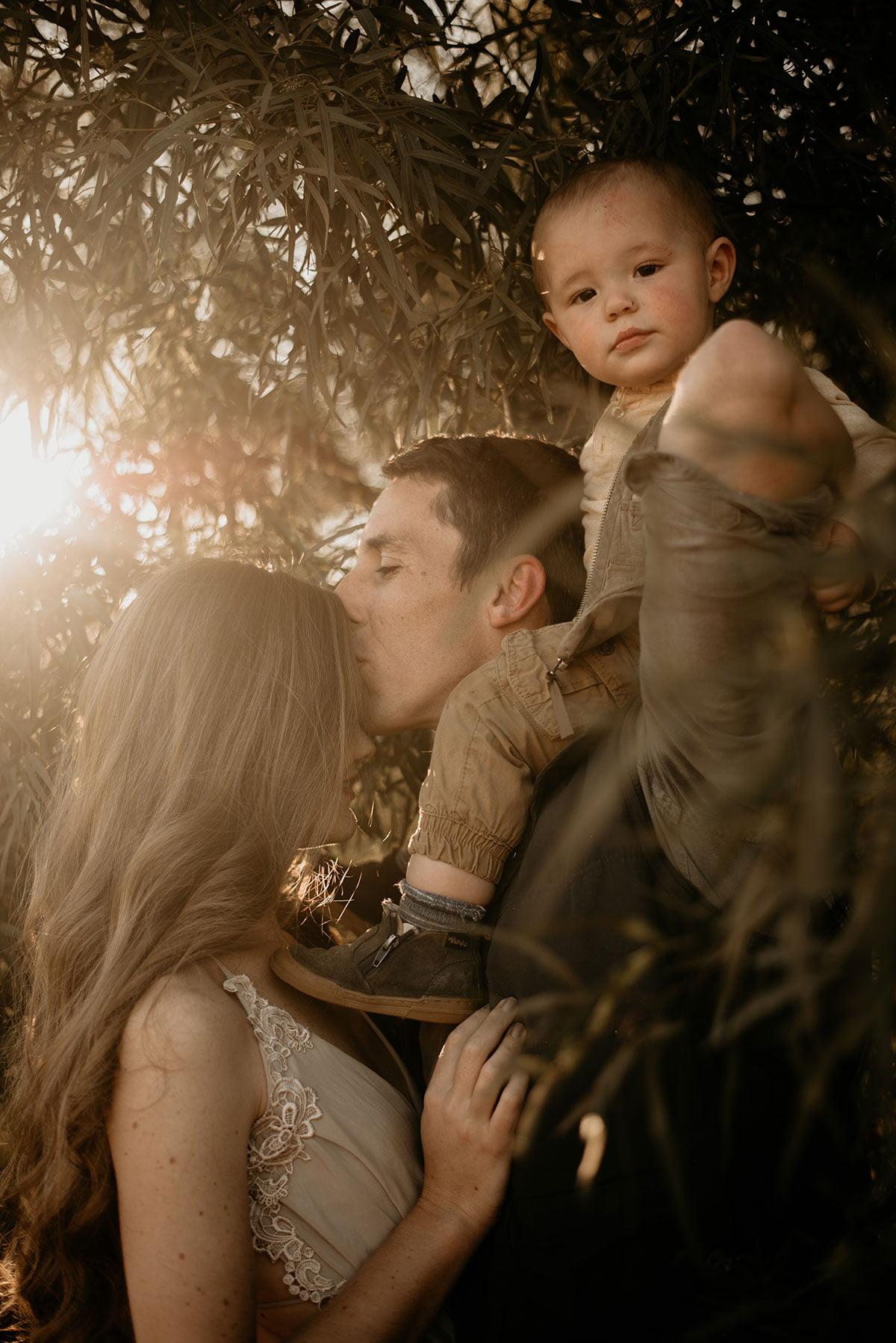 Loving Family in Nature
